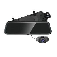 Azdome AR08, автомобильный зеркало-видеорегистратор с дополнительной камерой - фото