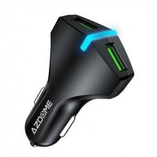 Автомобильная быстрая зарядка на два USB Azdome AZ04 - фото