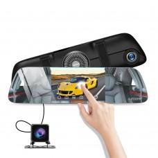 Azdome PG01, автомобильный зеркало-видеорегистратор с дополнительной камерой - фото