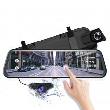 Azdome PG02, автомобильный зеркало-видеорегистратор с дополнительной камерой - фото