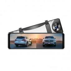 Azdome PG16S, автомобильный зеркало-видеорегистратор с дополнительной камерой - фото