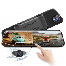 Azdome PG17, автомобильный зеркало-видеорегистратор с дополнительной камерой - фото